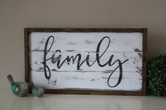 Wooden family sign Reclaimed wall art Family sign Pallet | Etsy