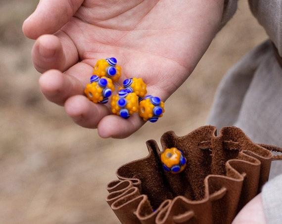 Celt Age Fall Yellow Glass Bead Replica