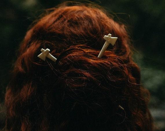 Viking Danish Axe Hairpin Historical Replica
