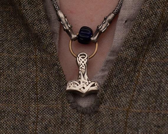 Urnes Style Mjolnir Pendant (Thor's Hammer) Handmade
