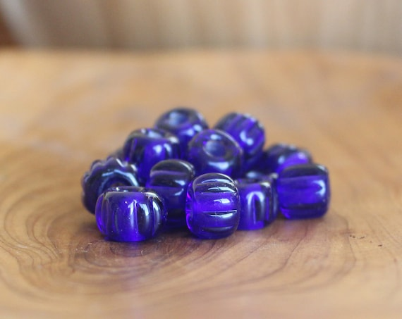 Sapphire Blue Birka Viking Age Glass Bead Replica