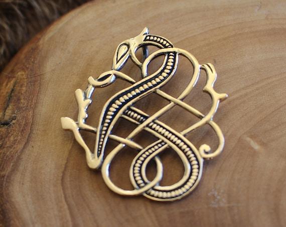 Norse Jelling Style Dragon Pendant
