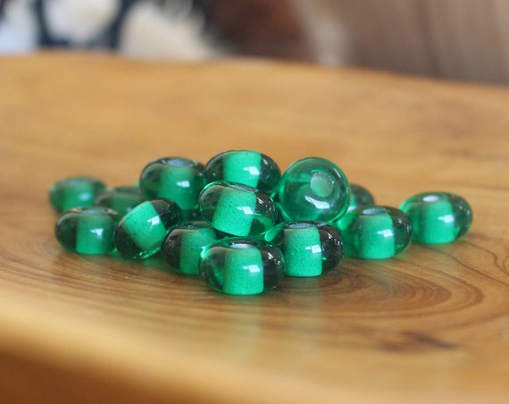 Emerald Green Viking Age Glass Bead Replica