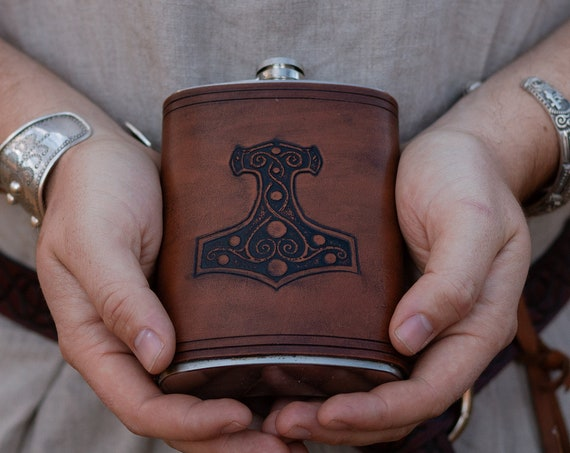 Viking Mjolnir Flask