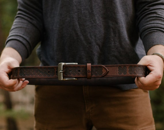 Leather Belt For Rugged Lifetime Use.
