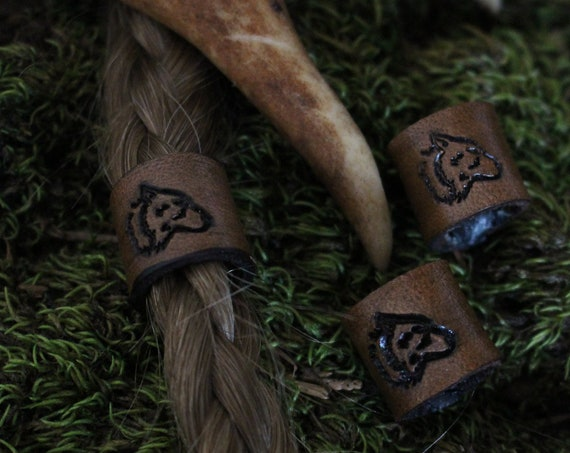 Wolf Hair/Beard Bead