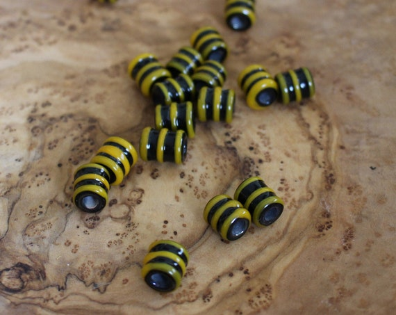 "Viking Glass Beads ""Yellow Jacket"" historical glass"