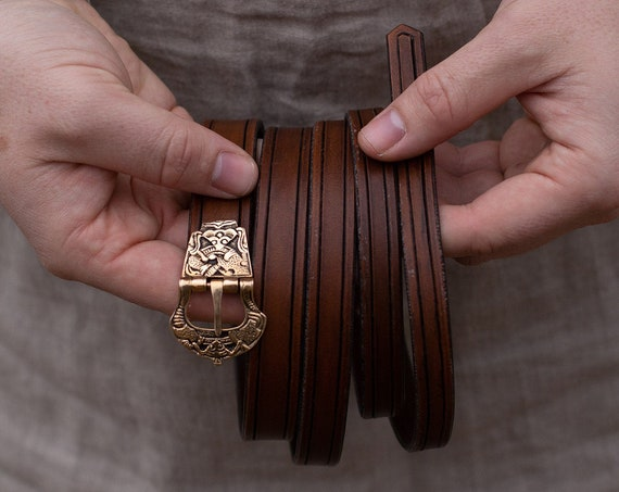 Viking Age Belt With Historical Buckle