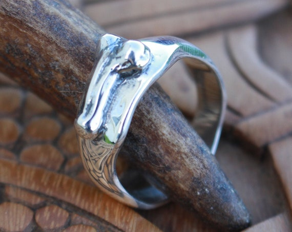 Thick Roman Phallus Ring Sterling Silver