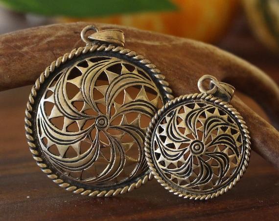 Viking Gotland Sun Wheel pendant