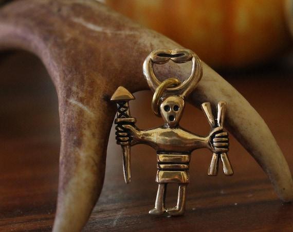 Dancing Viking Warrior Necklace