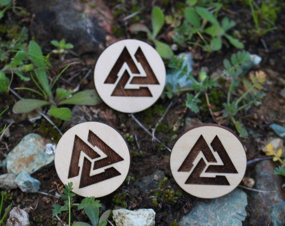 Valknut Viking Wood Pin