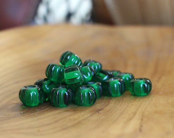 Emerald Green Birka Viking Age Glass Bead Replica