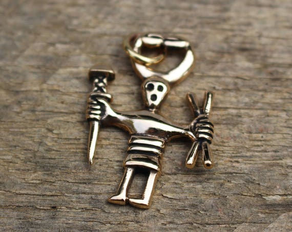 Dancing Viking Warrior Necklace