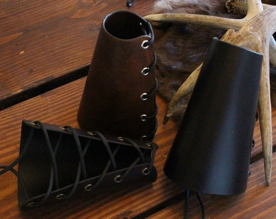 Thick Leather Archery Armguard