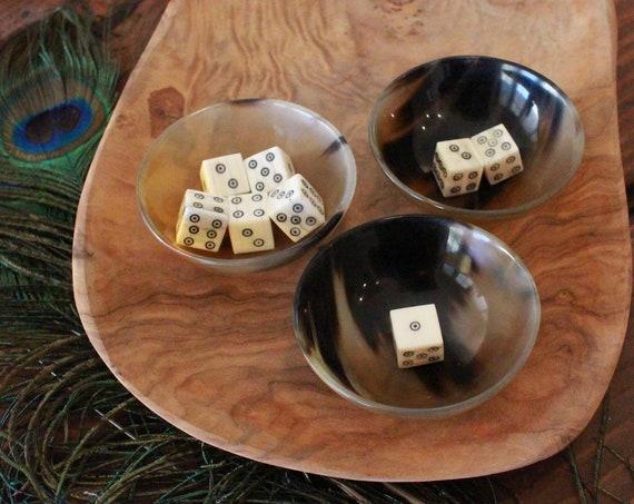 Historical Reenactment Mini Horn Bowl