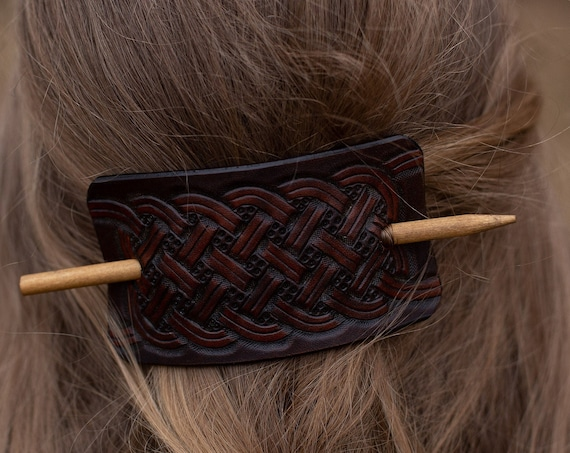 Iron Age Leather Hair barrette