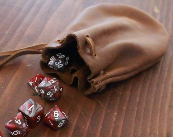 Leather DnD Dice Pouch