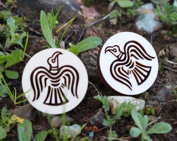 Huginn And Muninn Wood Pin (2) Pack