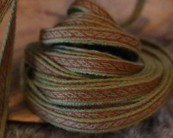 Oseberg Tablet Woven Band 100% Wool Historical Viking Age Band