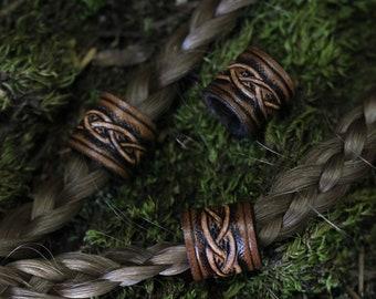 Leather Viking Hair/Beard Bead