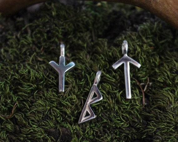 Sterling Silver Rune Pendants