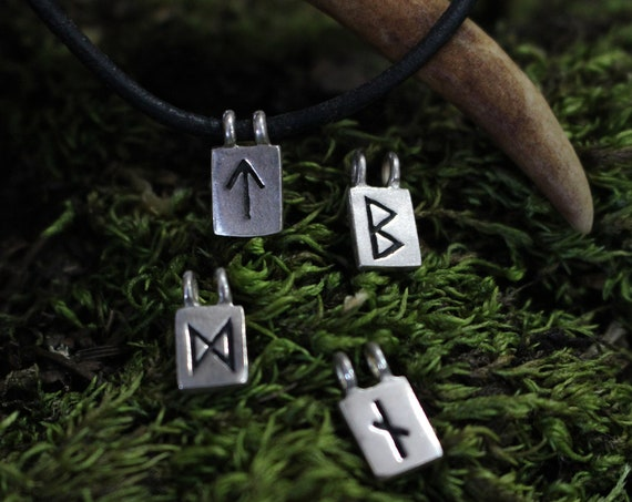 Sterling Silver Rune Pendants