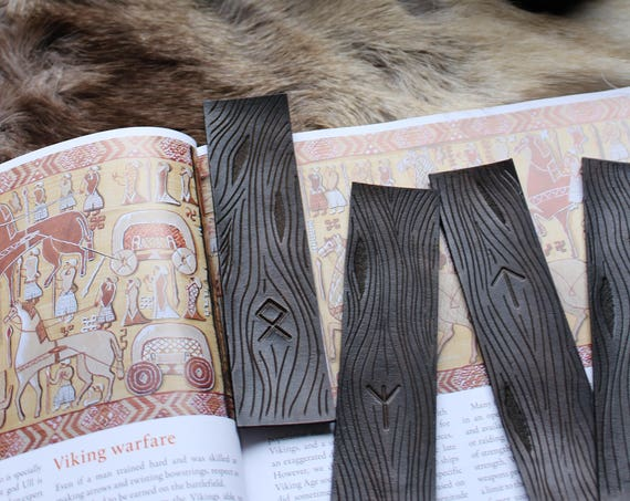 Runic Leather Bookmark