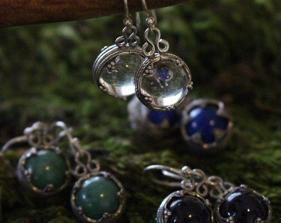 Gotland Sterling Silver Crystal Earrings
