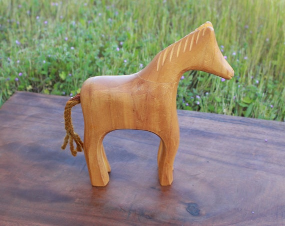 Wooden Viking Toy Horse Historically Inspired Toy