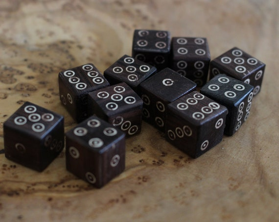 D&D Rose Wood Dice