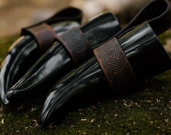 Viking Drinking Horn w/ Custom Holder