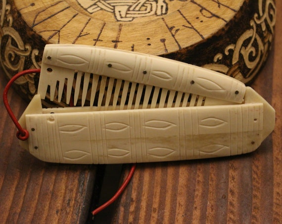 Viking Bone Comb W/ Case