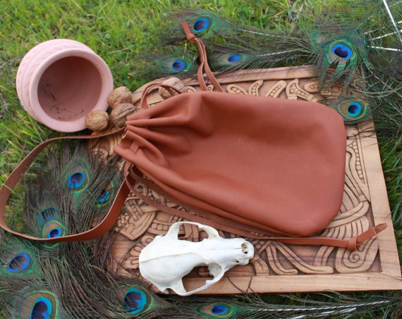 Leather Medieval French Belt Bag