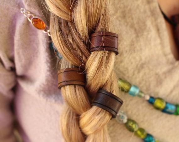 READY TO SHIP Leather Viking Hair/Beard Bead