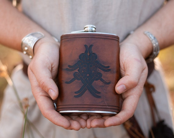Odins Mask Drinking Flask