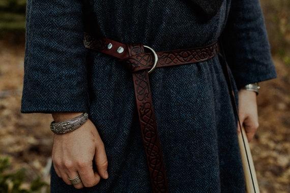 Leather Medieval Viking Dragon Belt