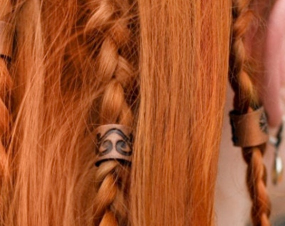 Yggdrasil Leather Viking Hair/Beard Bead