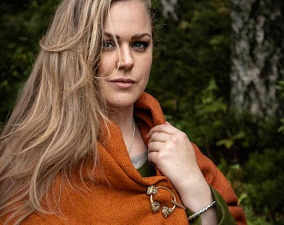 Viking Wool Rectangle Cloak in Diamond Twill. Historial Reenactment - Cloaks - Viking age - Handmade