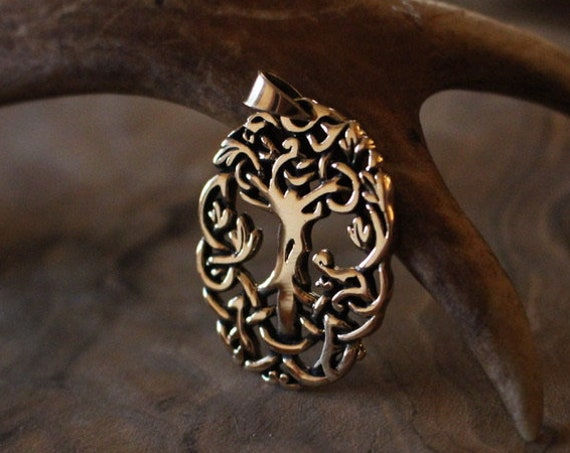 Hand Casted Yggdrasil Necklace