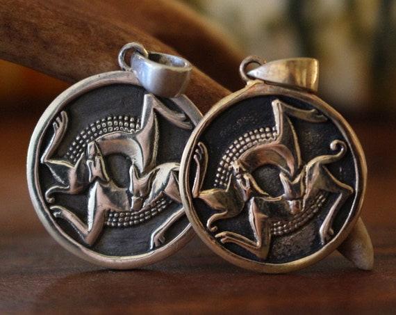 Viking Pendant Odins Wolves