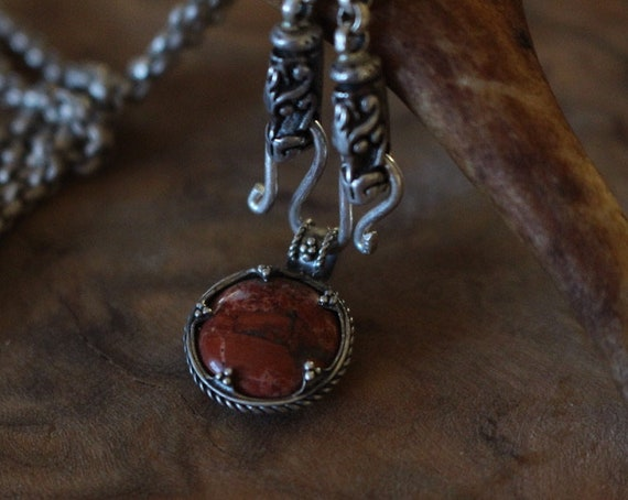 Gotland Red Agate Pendant
