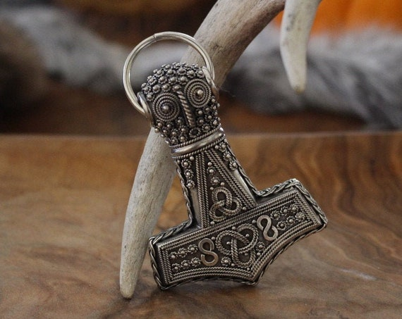 Large Hand Crafted Öland Hammer in Sterling Silver