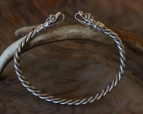 Sterling Silver Wolf Bracelet