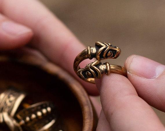 Viking Age animal head  ring