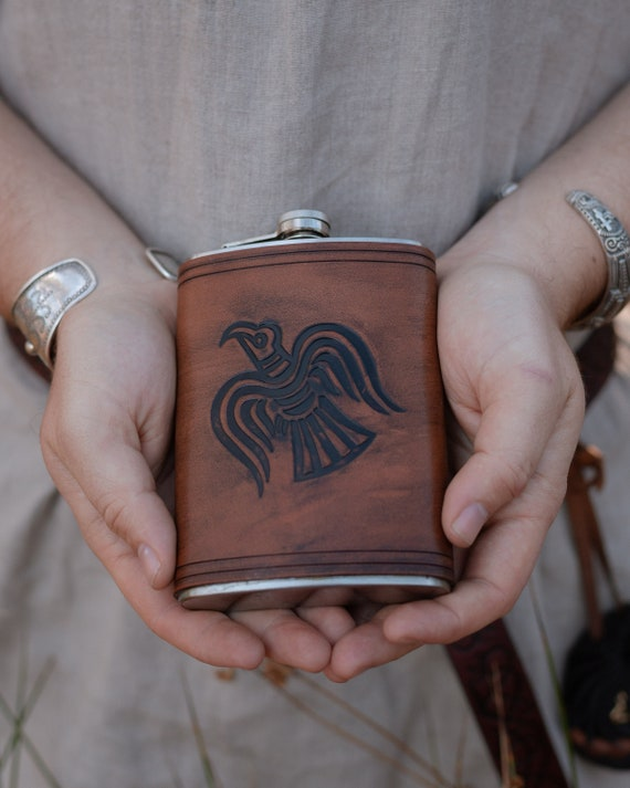 Norse Raven Drinking Flask