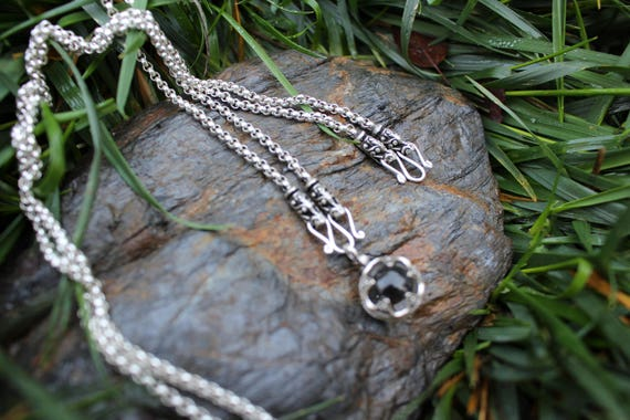READY TO SHIP Casted Silver Dragon chain Necklace