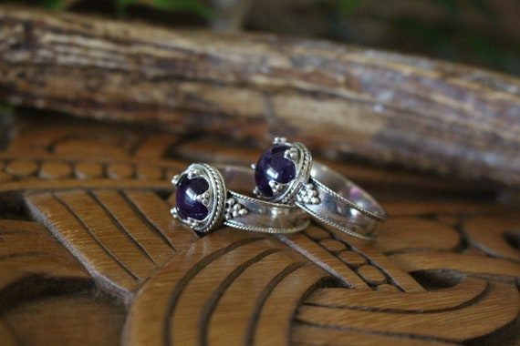 Hand Crafted Gotland  Amethyst Ring