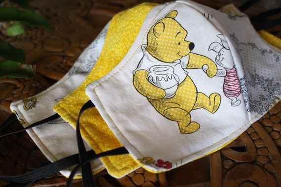 Face Mask Cotton Reusable Washable Unisex Adult and Children's Mask Winnie the Pooh