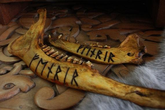 Fenrir Viking Jawbone Rune